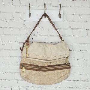 VTG Fossil canvas shoulder bag
